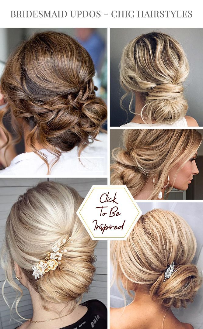 48 Perfect Bridesmaid Hairstyles Ideas Wedding Forward Bridesmaid Updo Chic Hairstyles Hair Styles