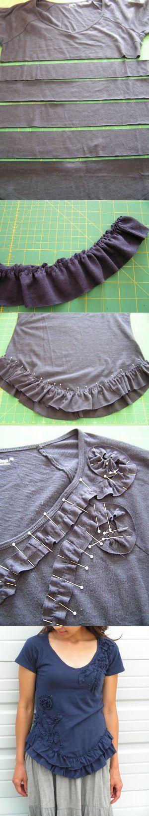 Как украсить футболку: аппликация и бусины | Ladiesvenue