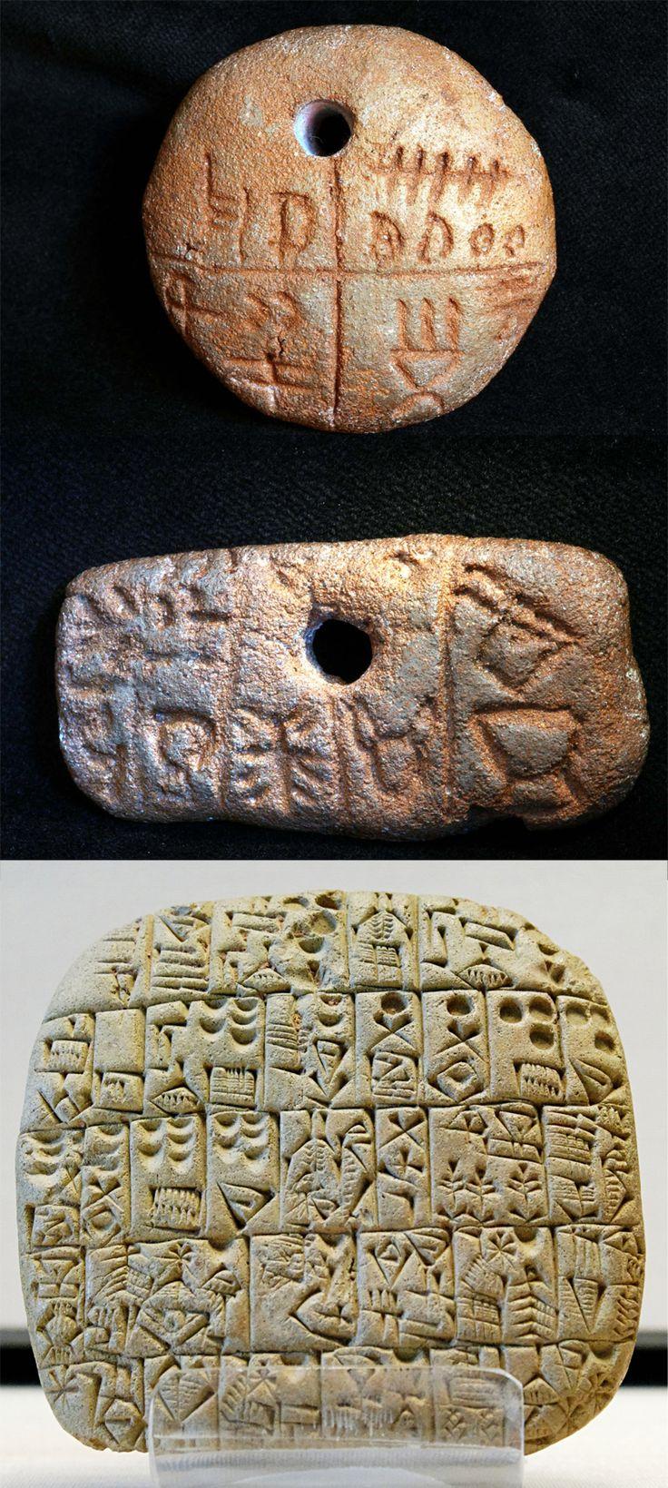 (Vinca Culture)  Vinca writing vs cuneiform. ca 5500-4500 BCE.