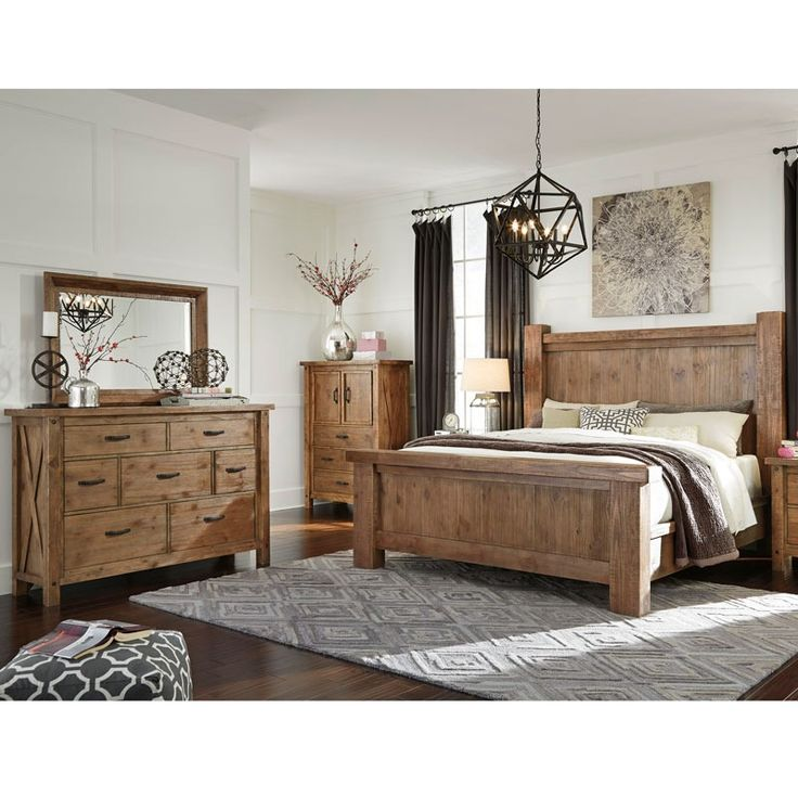 Marvelous The Amarillo 5 Piece King Bedroom From Ashley Furniture Comes In A Sandy  Brown Finish With