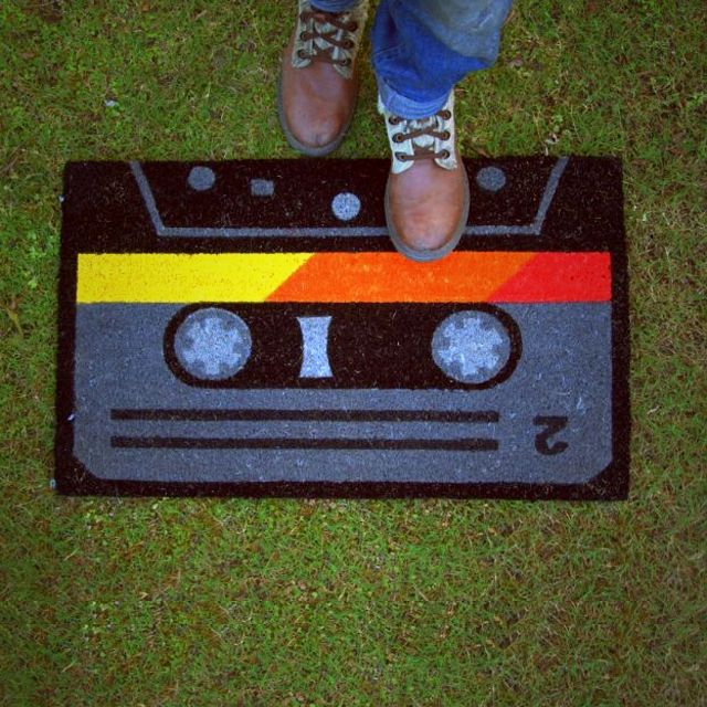 750.00 Take a step back in time and connect with your inner retro style! bring back 80s era with this fun and fabulous Cassette Tape doormat. Perfect addition to any entryway that needs a little more oomph