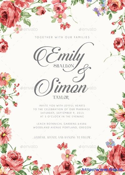 100 Best #Wedding #Invitation Card Print Templates 2015  Link : http://www.frip.in/best-wedding-invitation-card-print-templates/