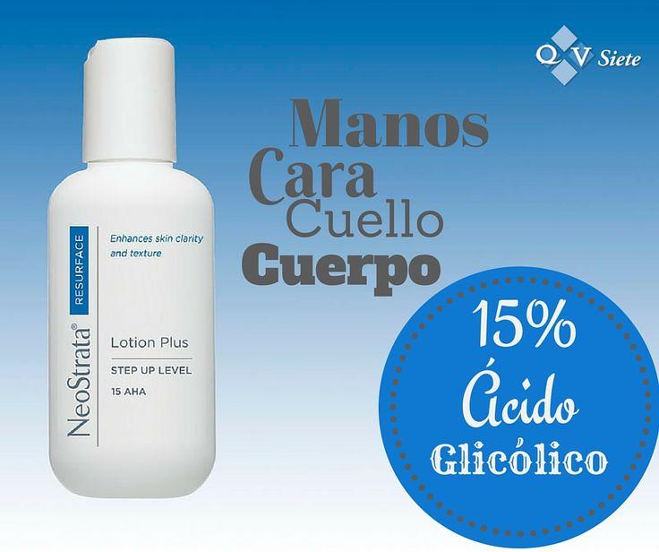 Producto para hidratar y mejorar la apariencia de la piel en rostro y cuerpo. Contiene un 15% de Ácido Glicólico. El uso constante puede ayudar a reducir las líneas finas del área tratada.