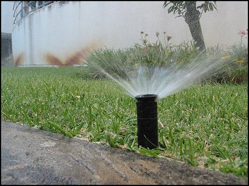 How to Repair a Pop up Sprinkler Head in 12 Steps  http://www.wikihow.com/Repair-a-Pop-up-Sprinkler-Head