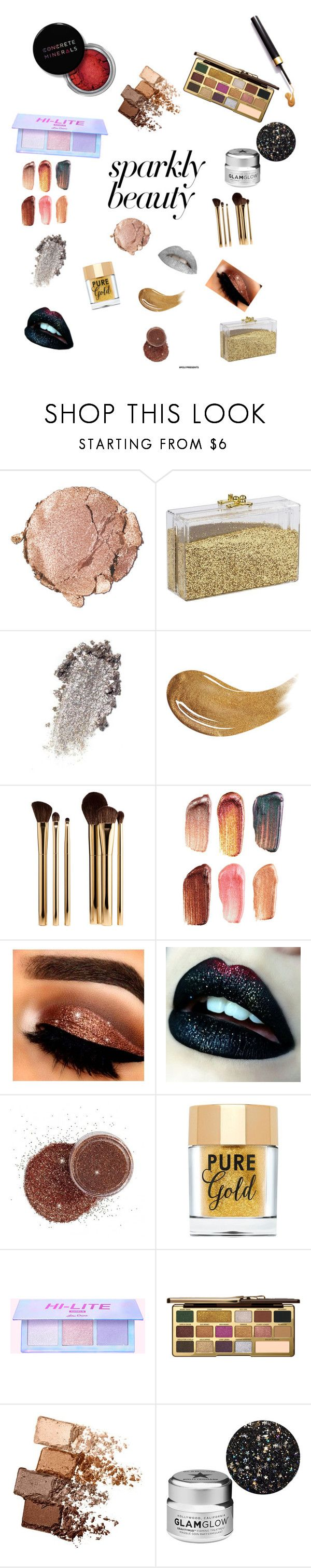 """#PolyPresents: Sparkly Beauty"" by judas-plutos ❤ liked on Polyvore featuring beauty, Stila, Too Faced Cosmetics, Sephora Collection, Bite, Maybelline, GlamGlow, Concrete Minerals, contestentry and polyPresents"