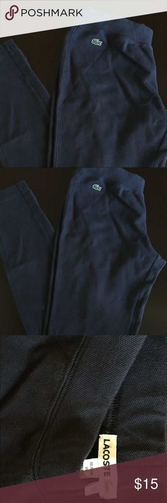Lacoste Navy Blue Thick legging Lacoste thick may blue legging. Lacoste Pants Leggings