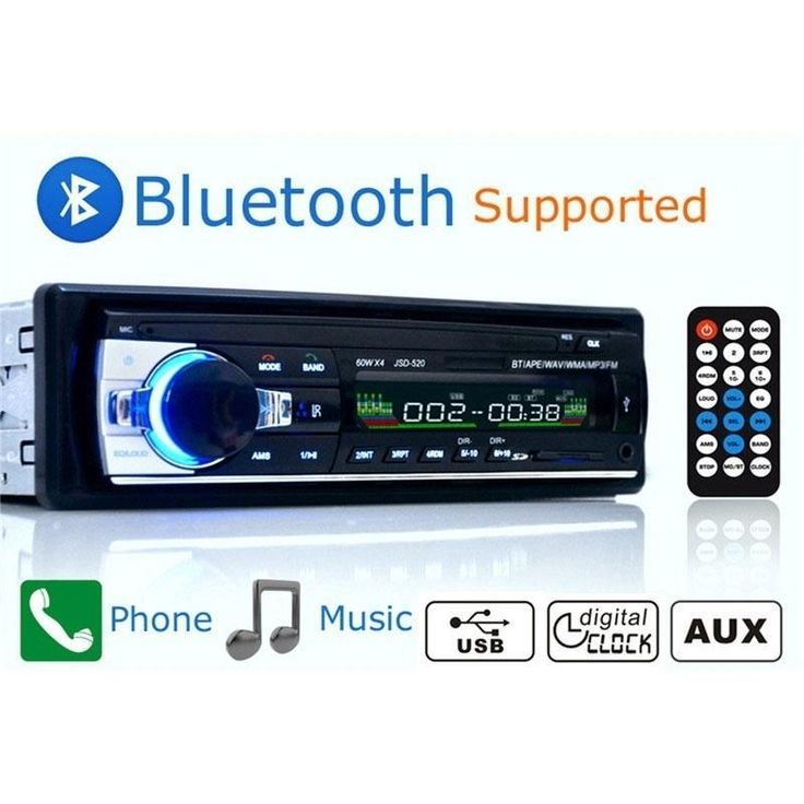 Car Radio Bluetooth Handsfree Support USB/SD MMC Port 12V Car Stereo FM Radio MP3 Audio Player 1 Din In-Dash (Color: Black)