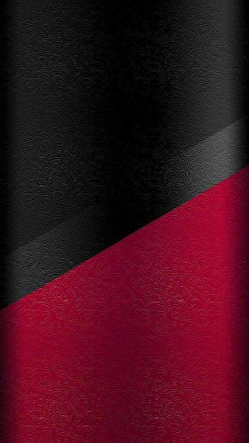 Dark S7 Edge Wallpaper 04 Black And Red Floral Pattern