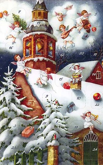 Christmas angels advent calendar from Germany