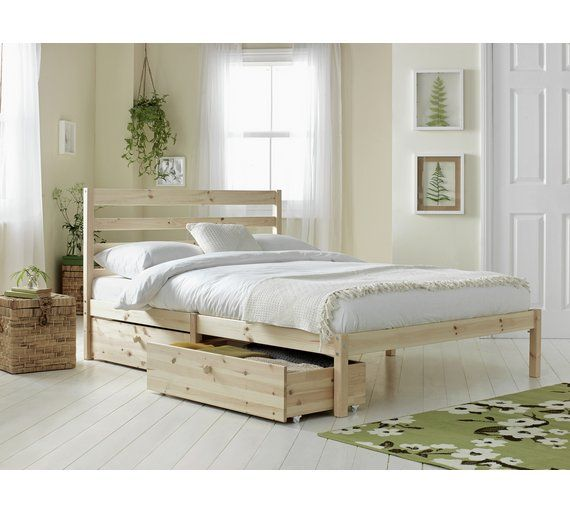 Argos Collection Aspley Double Bed Frame White White Bed Frame