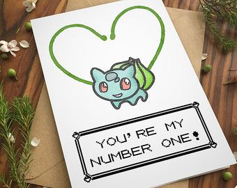 POKEMON GO CARD love pun greeting card I Choose You by ecolorty