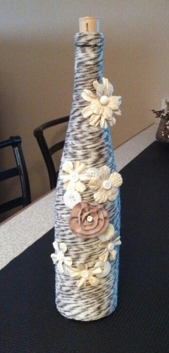 Love my new wine bottle decor ;)
