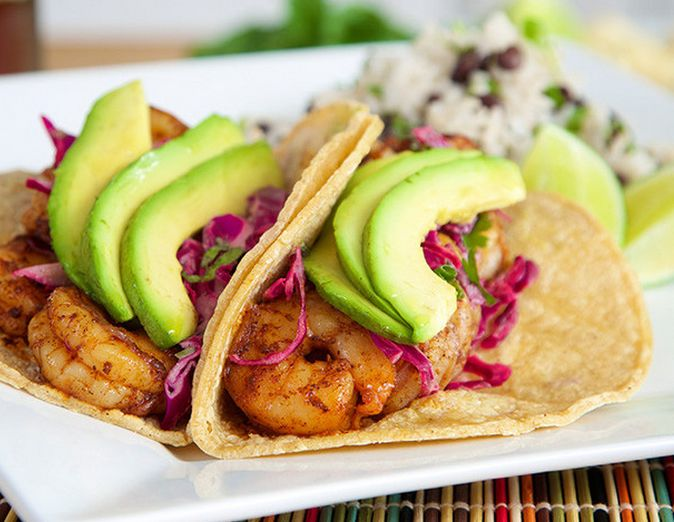 Ancho Shrimp Tacos by Simple Gourmet Kitchen http://www.chefd.com/collections/all/products/40-cloves-garlic-chicken