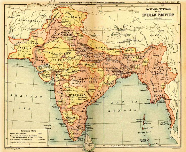 colonial india | British_Indian_Empire_1909_Imperial_Gazetteer_of_India
