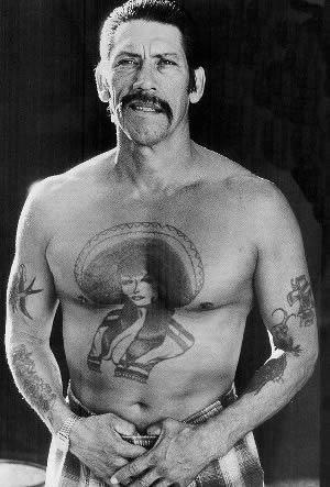 The most famous tattoo in the world... on Danny Trejo.