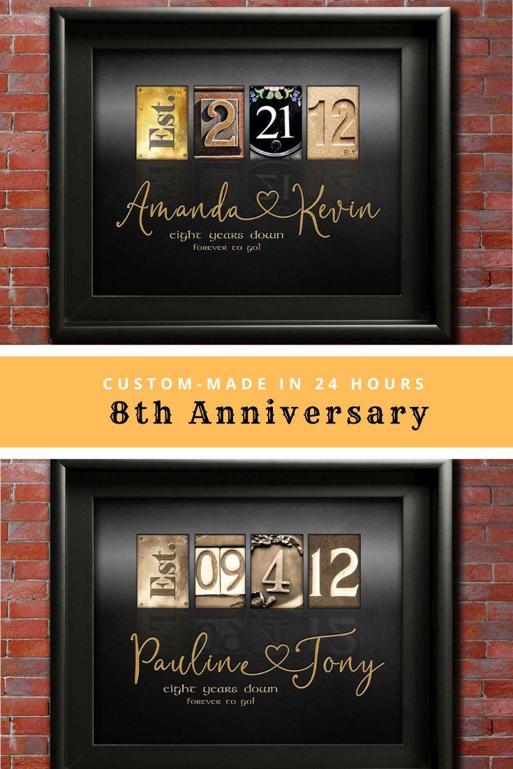 8th anniversary gift ideas eight wedding anniversary