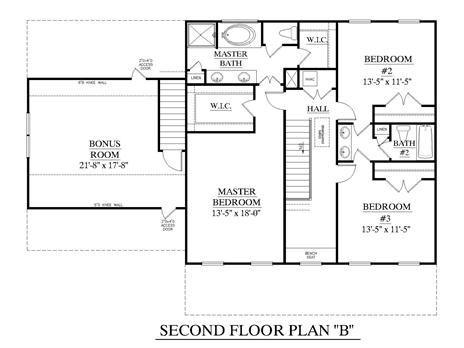House plan 2543 b rutledge b second floor two story for Engineered garage plans