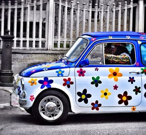 Shiny happy people & #Fiat500