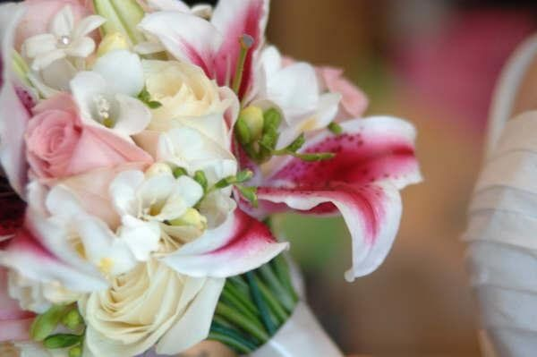 Fabulous! Star gazers, freesia, stephanotis blossoms... Just beautiful!