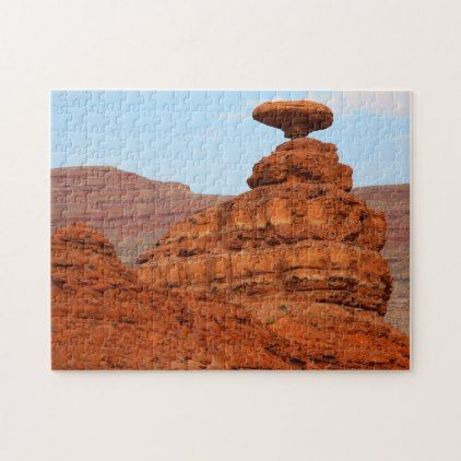 Mexican Hat Mountain Sculpture Utah. Jigsaw Puzzle - christmas idea gift idea diy unique special merry xmas family holidays