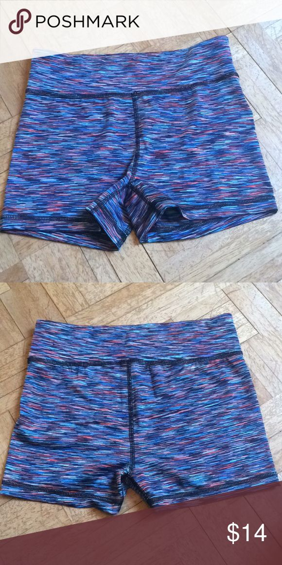 Multi-Color Shorts Multi-color booty shorts that can be worn for lounging or as volleyball shorts etc. Size medium. Mostly polyester and spandex. Purchased from Aeropostale. Gently worn maybe once or twice, still in perfect condition! Aeropostale Shorts