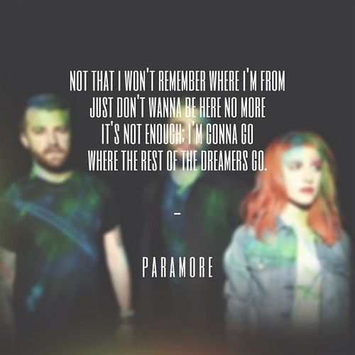 The Best Paramore Song Lyrics | The beauty of music and ... Paramore Song Quotes