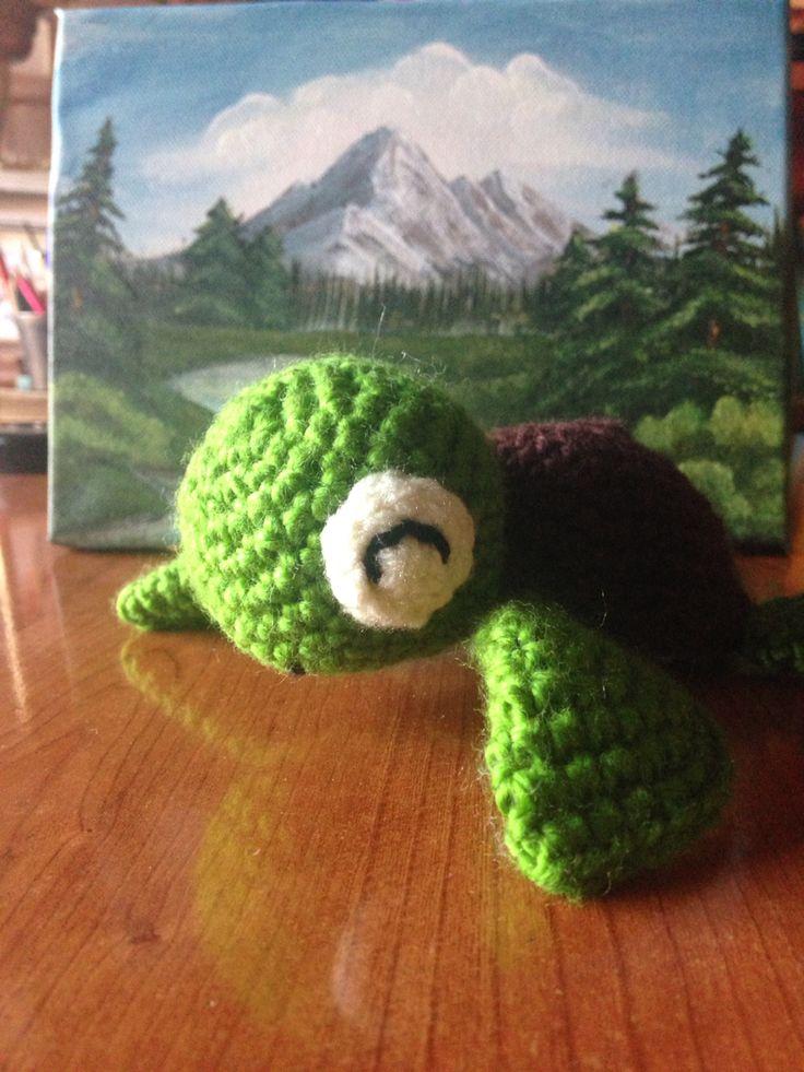 Sweet Funny turtle #amigrumi #croshet #pattern #littleturtle