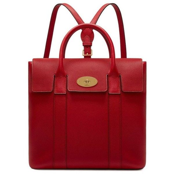 Mulberry Bayswater Backpack ($1,300) ❤ liked on Polyvore featuring bags, backpacks, daypack bag, structured bag, backpack bags, day pack backpack and full grain leather backpack