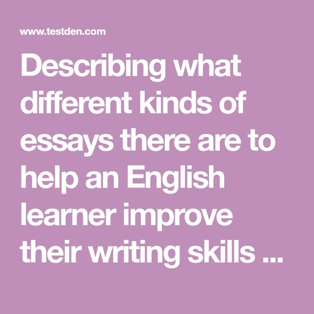 14 best TOEFL ITP images on Pinterest Languages, Audio and - what are the different kinds of essay