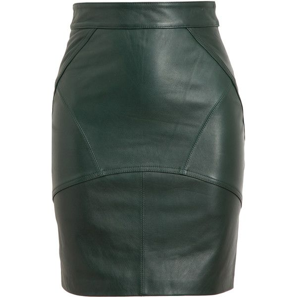 T BY ALEXANDER WANG Leather Pencil Skirt found on Polyvore