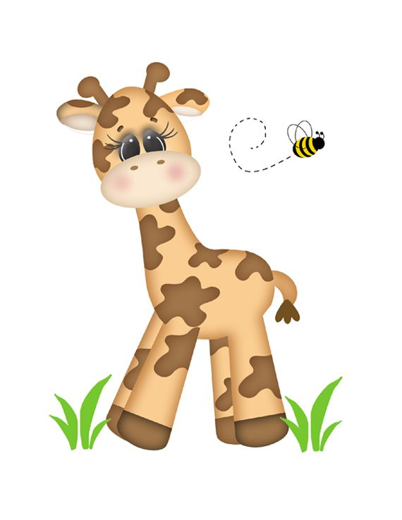 Safari Giraffe Wall Mural for baby girl or boy nursery or any children's jungle animal room decor #decampstudios