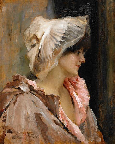 Parisisk kvinna by Albert Edelfelt