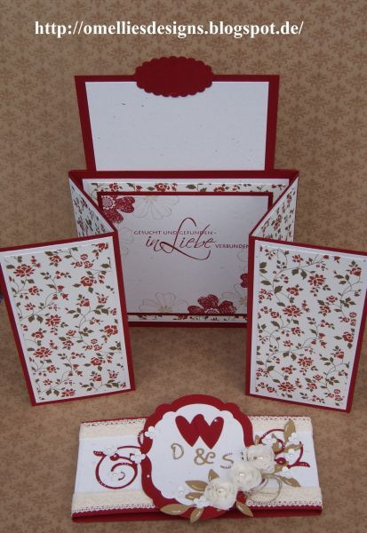Stampin UP , Hochzeitskarte,  Z-Gate-Tag Fold Card, Wedding Card , Chili