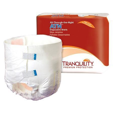 Tranquility ATN All- Through the Night Disposable Brief X-LARGE - 72 ea.