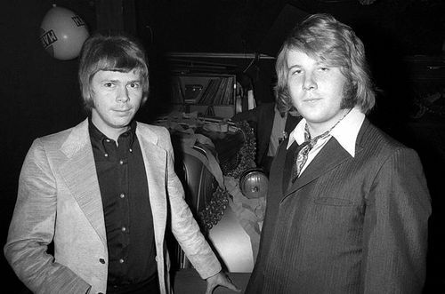 "1969 Björn and Benny at Svenne and Lotta's wedding (it only lasted 45 years. Lotta recently said: ""I need to do  my own thing now..."")"