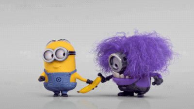 Evil Minions are purple because purple and yellow are opposite to each other on the colour spectrum. Description from mydailymix.eu. I searched for this on bing.com/images