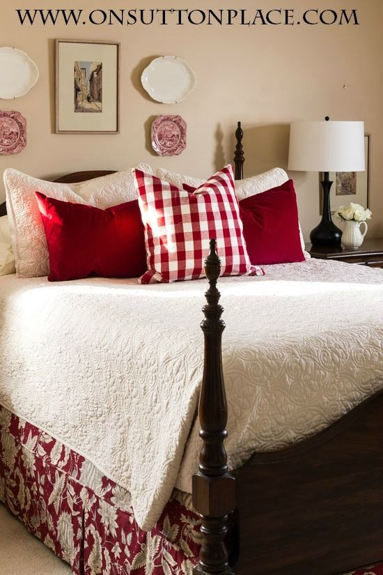 3 easy ways to style a bed red bedroom decorbedroom