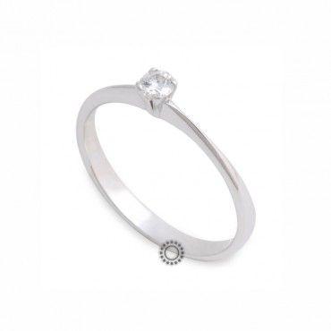 Μονόπετρο δαχτυλίδι με διαμάντι λευκόχρυσος Κ18 σε απλό σχέδιο με διεθνή πιστοποίηση IGL   Μονόπετρα δαχτυλίδια e-shop ΤΣΑΛΔΑΡΗΣ στο Χαλάνδρι #μονοπετρο #μπριγιαν #λευκοχρυσο
