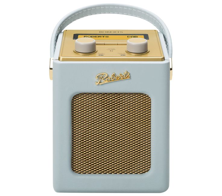 ROBERTS  Revival Mini Portable DAB Radio - Duck Egg & Gold, Duck Egg Price: £ 139.99 Portable DAB radio BUY NOW for just GBP139.99