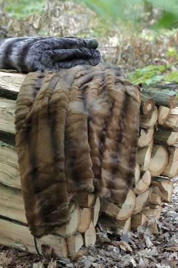 nertsbontspreinobilis (vison); heerlijk zachte fake fur nertsen bontsprei