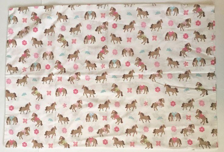 Circo Horse Pillowcase Pony Flowers Equestrian Bedding Fabric Cutter #Circo