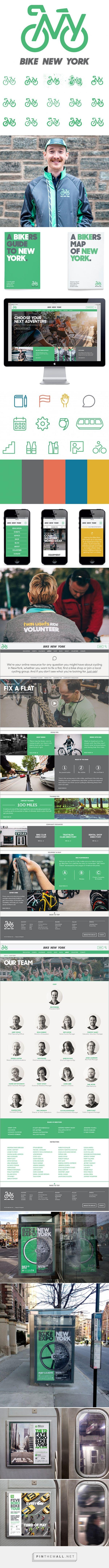 New Work: Bike New York | New at Pentagram - created via http://pinthemall.net #branding