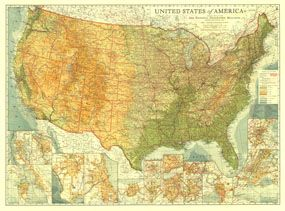 National Geographic Map Of The U To Mark My Travels