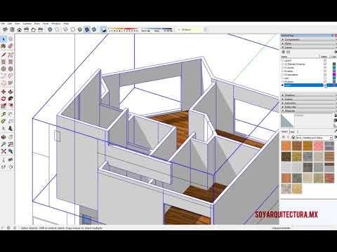 Soy Arquitectura: Video de Modelado de casa en 3D