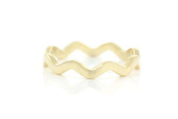 Wedding Band Zig Zag Ring Chevron Ring Wavy Ring