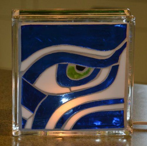 Seattle Seahawks mosaic glass block