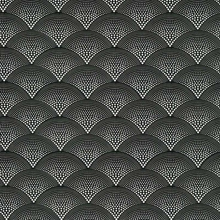 Monochrome Collection, Warwick Fabrics : CHRISTO / Black and White