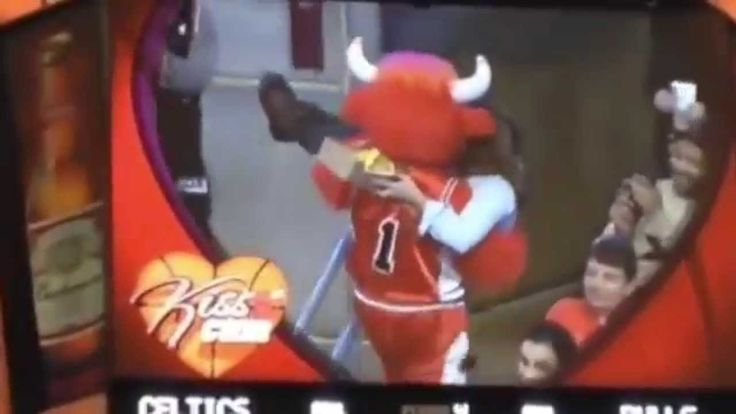 Benny The Bull Steals Celtic's Fan Girlfriend - Chicago Bulls vs Celtics...