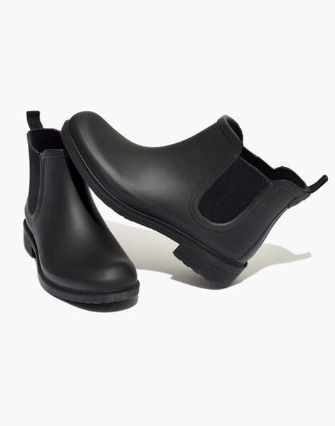 7c4dfced12b8 The Chelsea Rain Boot in true black vegan