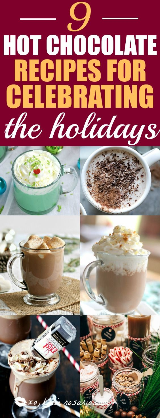 There is seriously nothing better than hot chocolate on a cold day! I really look forward to much cup of cocoa in front of a fire! I totally love that all these hot chocolate recipes are perfect for a holiday or Christmas party because you can use a crockpot for easy serving! The slow cooker makes it easy for entertaining! Pinning for later!